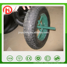 3.50-8 / 4.00-8 spokes style rim ,gem pattern ,pneumaitc, air rubber wheel for wheelbarrow