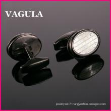 VAGULA qualité nouvelle coquille laiton boutons de manchettes (L51426)