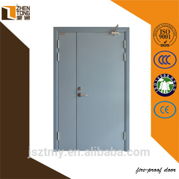 Hot sale double leaf wooden fire door