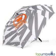 Paraguas del golf de la protección del sol del paraguas del eje de la fibra de vidrio de 36 pulgadas