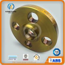 Brida roscada del reborde de la soldadura del zócalo del reborde del acero de carbono del estándar del estruendo (KT0401)