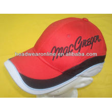 Custom sports cap with embroidery, sport hat