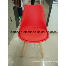 Upholstered Red Restaurant Chair with Wood Leg (FOH-BCC07B)