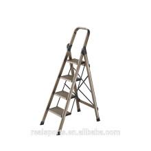 Escada dobrável Quatro Degraus Ampla Pedais Escada De Alumínio Casa Alununum Escada Dobrável