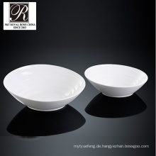 Hotel Ozean Linie Mode Eleganz weiße Porzellan große Schüssel PT-T0612