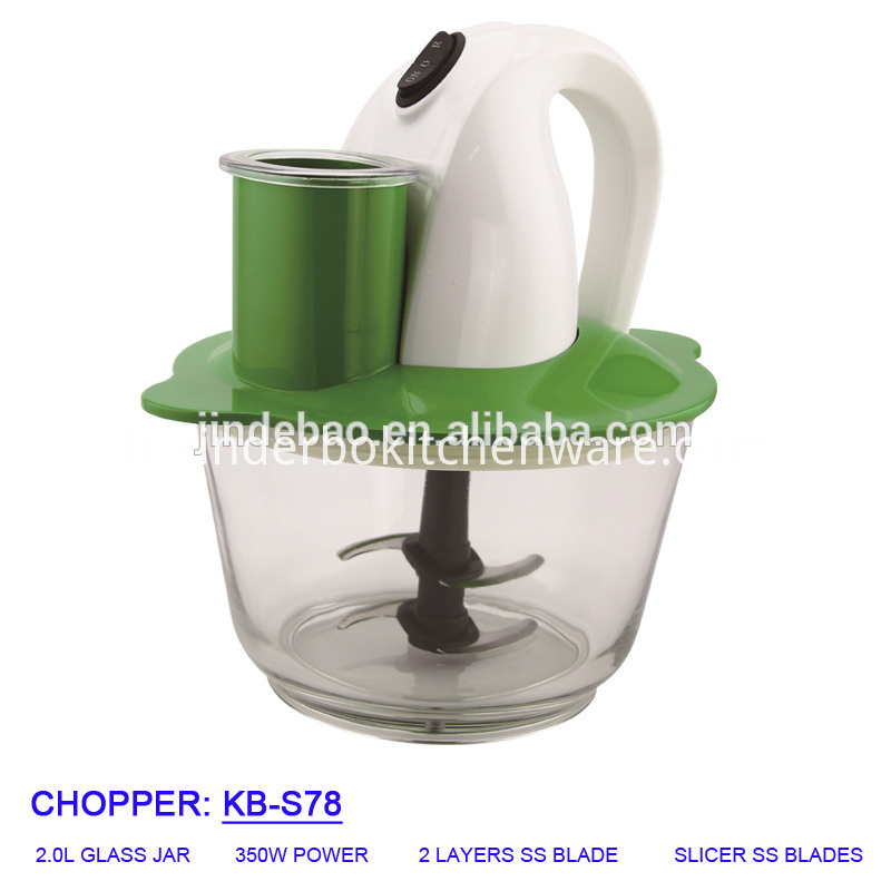 Multifunctional 2.0L Glass Jar Chopper