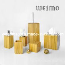 Coordonnée de bain en bambou carré de sanitaires (WBB0620A)