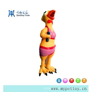 Jouet de chien de poulet en latex grinçant de vente chaude