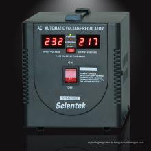 Fabrikverkauf !! LED-Anzeige Spannungs-Stabilisator 1500VA 900W SCIENTEK