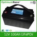 Batterie de stockage solaire LiFePO4 12V 100ah