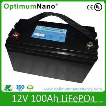 Solar Storage LiFePO4 Battery 12V 100ah