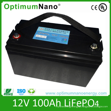 Bateria LiFePO4 de armazenamento solar 12V 100ah