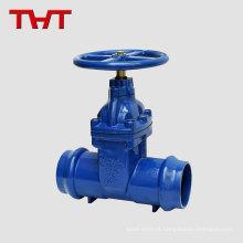 Válvula de portão resiliente de extremidade de soquete de ferro fundido para tubo de PVC