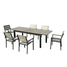 Factory directly provide for Best Patio Furniture Sets,Outdoor Patio Furniture,Garden Table And Chairs Manufacturer in China 7pc aluminum plastic extension dining set supply to Andorra Suppliers