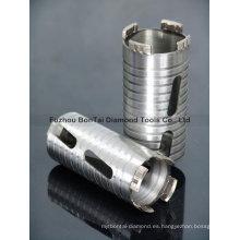 Brocas de diamante seco de hormigón armado para perforar hormigón