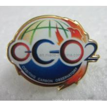 Offset impresso metal lapela pin emblema com epóxi (badge-106)
