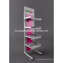 Ökonomische Metall-Boden-Display-Stände für Apotheke, bewegliche 4-Tier Medizin Apotheke Display Stand