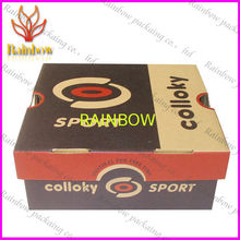 Corrugated Gift Paper Box Packaging Custom With White Cardboard