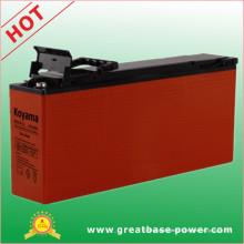 Batterie de terminal avant d'acide à plomb étanche pour systèmes de communication 125h 12V