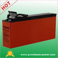 Bateria do terminal dianteiro de chumbo vedado para sistemas de comunicação 125ah 12V