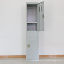 School furniture single steel locker two doors with padlock