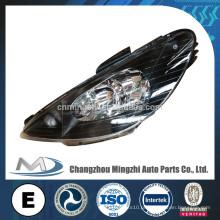 Auto peças cabeça luz cristal preto para Peugeot 206 R087276 L087275