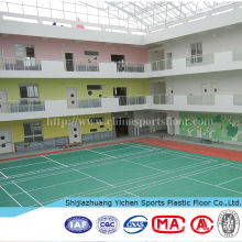 pvc floor covering for garage and exhibition badminton court usage