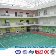 piso em pvc para uso em quadras de badminton de garagem e exposições