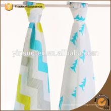 Fabricación de China 2ply de alta calidad de moda Bambú muselina Swaddle