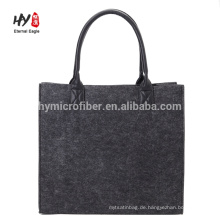 Großhandelskundenspezifische einfache elegante Filzeinkaufstasche