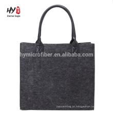 Por atacado personalizado simples elegante feltro saco de compras