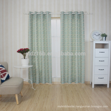 New arrival Modern Brief Style 100% Polyester The Little Leaf Jacquard Curtain & Curtain fabric