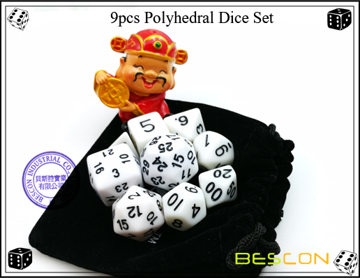 9pcs Polyhedral Dice Set-22