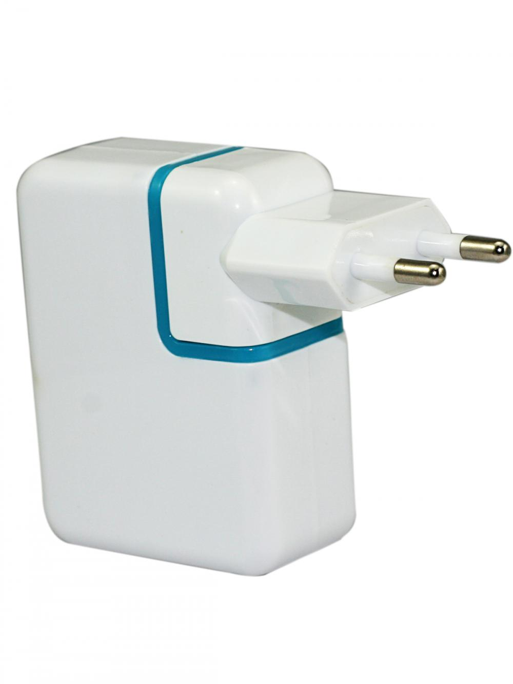 USB charger with covertible plug