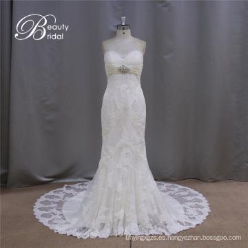 Patrón de vestido de boda de Novia de venta caliente