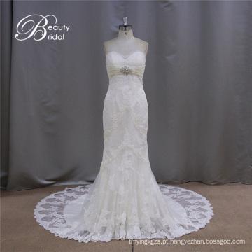 Venda quente querida padrão de vestido de casamento