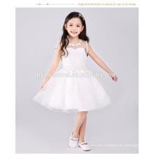 Las últimas últimas muchachas sin mangas bonitas occidentales princesa party el vestido formal del cumpleaños para el bebé