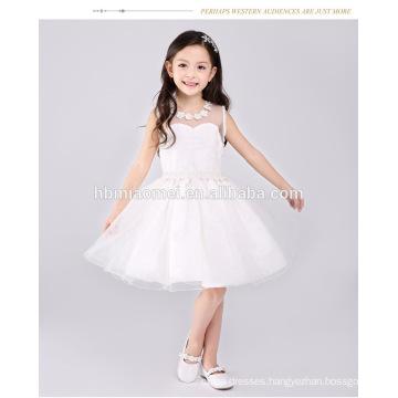 Wholesale latest pretty sleeveless girls western princess party formal birthday dress for baby girl