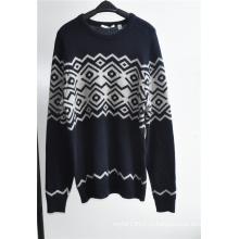 Шерсть Blend Круглый шею Вязание Мужчины Пуловер