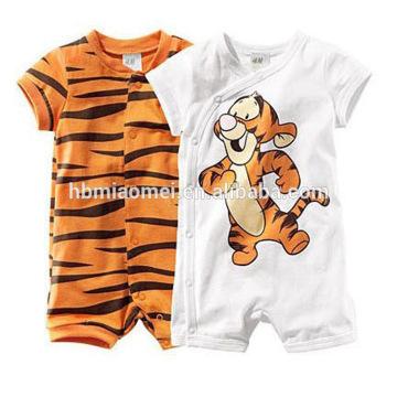 2016 summer design short sleeve cotton unisex baby clothes newborn with factory price