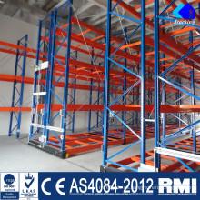 Nanjing Jracking Warehouse Storage Racks de acero Shuttle Rack Shelving Divider
