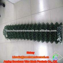 Valla de enlace de cadena verde