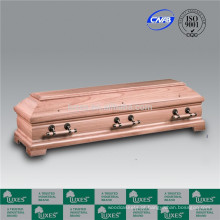 Estilo alemão caixões de madeira barato papelão com cetim acabamento Natural