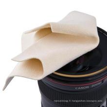 Chiffons de nettoyage pour lentilles en microfibre imprimés sur le logo