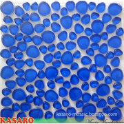 Dark Blue Pebble Glass Mosaic Mesh Mounted Back 12X12 (KSL5516)