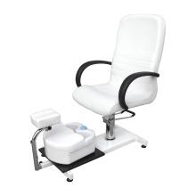Chaise blanche portative de station thermale de pédicure de pompe à huile hydraulique