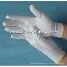 Nylon hecho punto ESD Palm revestido guantes de la PU ZM803
