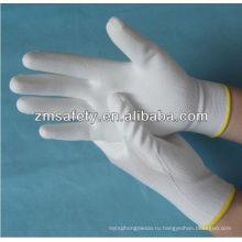 Нейлон трикотажные пальмовое ОУР покрытием PU перчатки ZM803