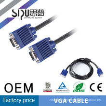 SIPU high quality filter noise vga cable with ferrites VGA cable 3+6