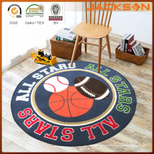 "Eco-Friedly Round Kids Balls Tapis de tapis lavable à la machine ""All Star"""